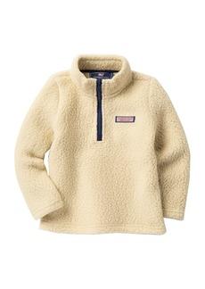 Vineyard Vines Harbor Faux Shearling Fleece Half Zip Pullover (Toddler Boys & Little Boys)