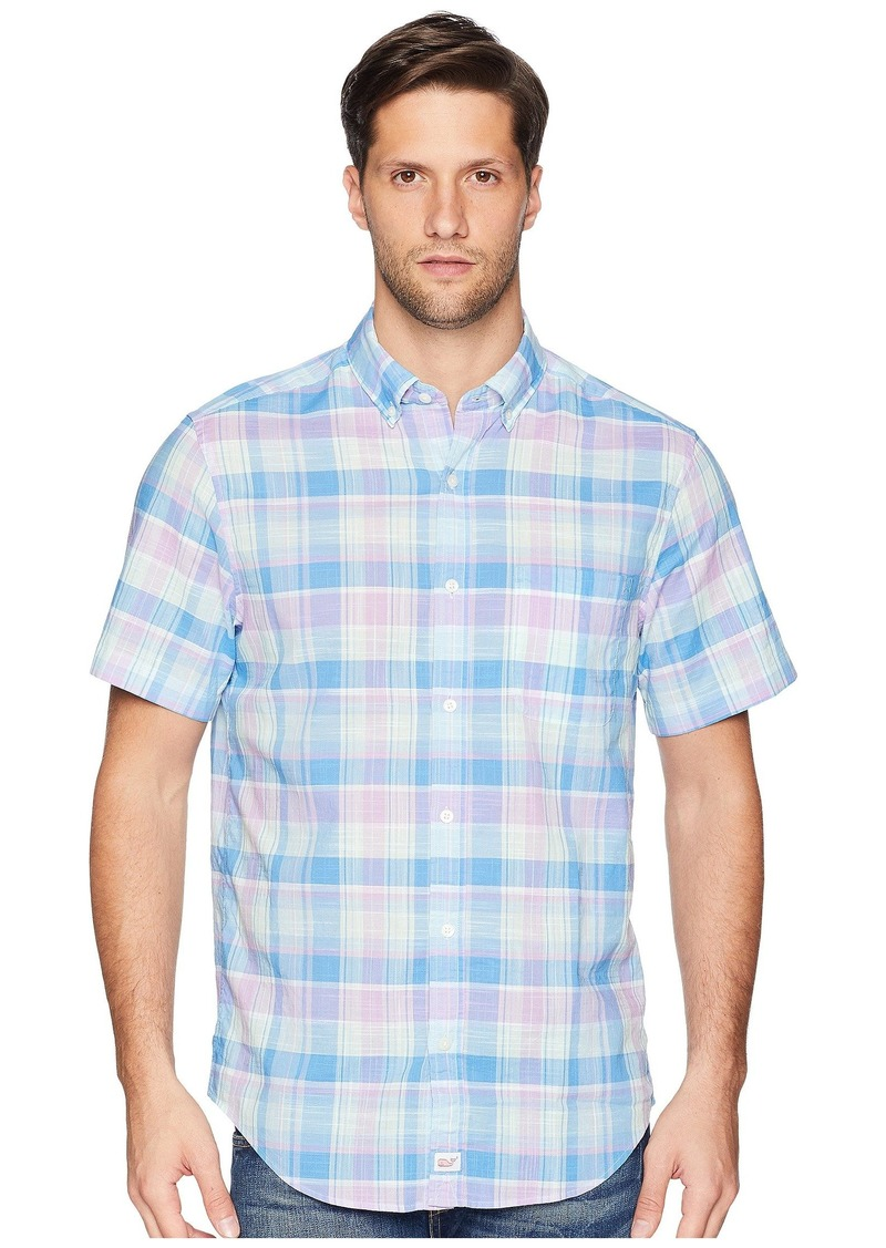 Vineyard Vines Lagoon Pond Plaid Short Sleeve Classic Murray Shirt