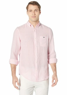 Vineyard Vines Linen Stripe Classic Fit Tucker Shirt