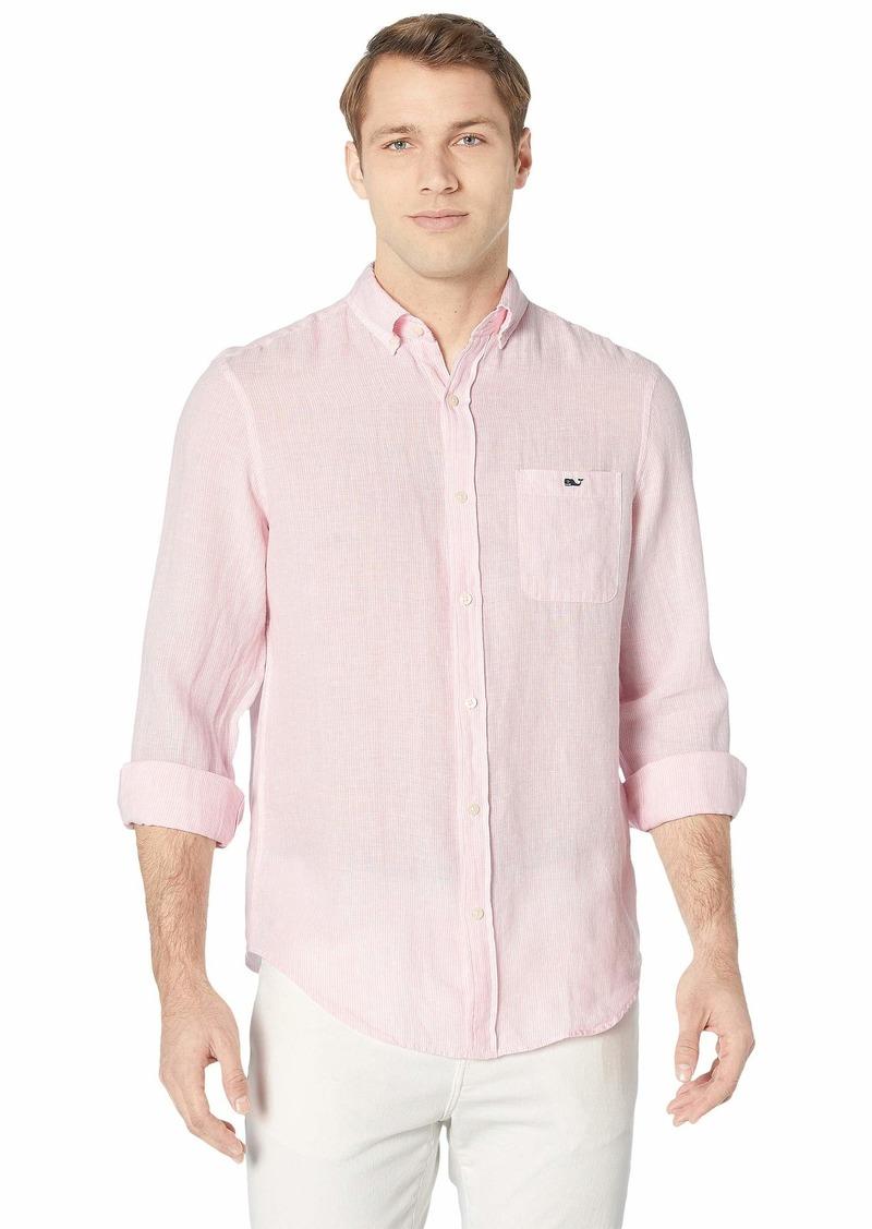 Vineyard Vines Linen Stripe Classic Fit Tucker Shirt