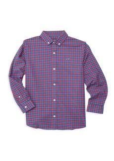 Vineyard Vines Little Boy's & Boy's Cotton Flannel Whale Shirt