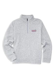 Vineyard Vines Little Boy's & Boy's Fleece Quarter-Zip Sweater