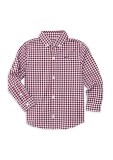 Vineyard Vines Little Boy's & Boy's Grovedale Gingham Whale Shirt