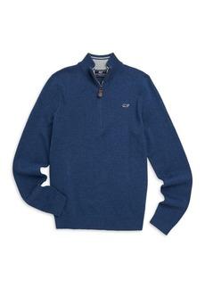 Vineyard Vines Little Boy's & Boy's Half Zip Cotton Blend Sweater