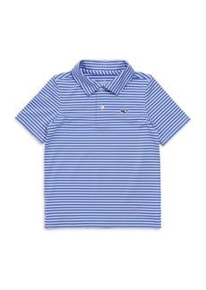 Vineyard Vines Little Boy's & Boy's Kennedy Stripe Polo Shirt
