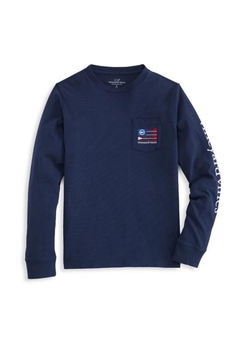 Vineyard Vines Little Boy's & Boy's Lacrosse Long-Sleeve T-Shirt