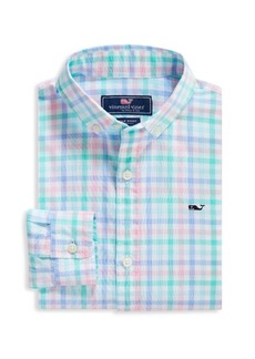 Vineyard Vines Little Boy's & Boy's Palm Beach Plaid Shirt