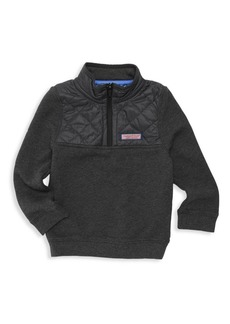 Vineyard Vines Little Boy's & Boy's Quilted French Terry Shirt