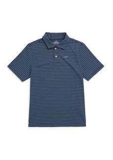 Vineyard Vines Little Boy's & Boy's Stripe Polo Tee