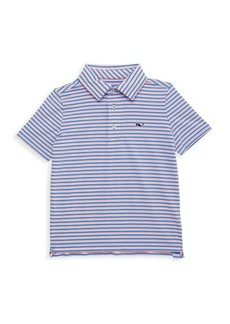 Vineyard Vines Little Boy's & Boy's Striped Clubhouse Polo Shirt