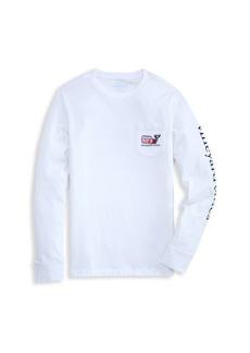 Vineyard Vines Little Boy's & Boy's Whale Basketball Long-Sleeve T-Shirt