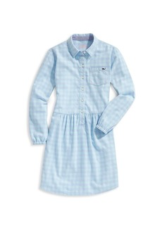 Vineyard Vines Little Girl's & Girl's Bay Gingham Shirtdress