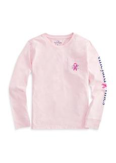 Vineyard Vines Little Girl's & Girl's Breast Cancer Awareness Cotton Tee