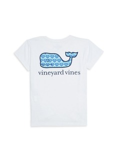 Vineyard Vines Little Girl's & Girl's Cotton Whale T-Shirt