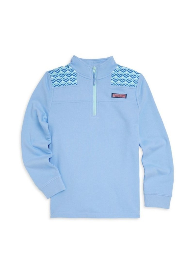 Vineyard Vines Little Girl's & Girl's Diamond Whale Pullover