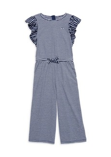 Vineyard Vines Little Girl's & Girl's Feeder Stripe Jumpsuit
