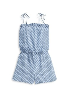 Vineyard Vines Little Girl's & Girl's Gustavia Block Print Romper
