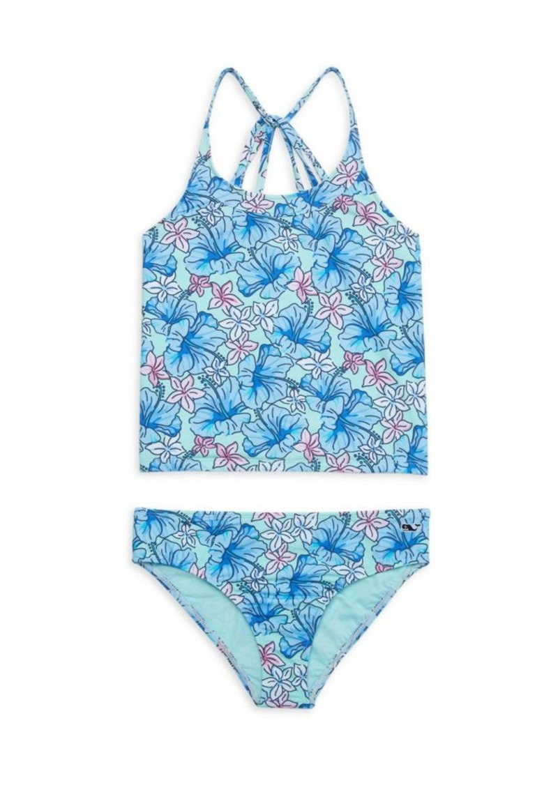 Vineyard Vines Little Girl's & Girl's Hibiscus Floral Print 2-Piece Swimsuit