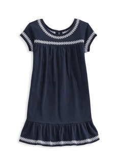 Vineyard Vines Little Girl's & Girl's Island Lattice Embroidered Dress