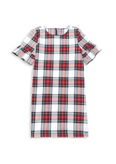 Vineyard Vines Little Girl's & Girl's Jolly Plaid Ruffle Dress