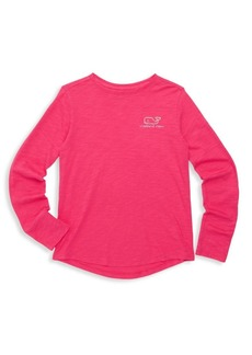 Vineyard Vines Little Girl's & Girl's Logo Foil Cotton Tee