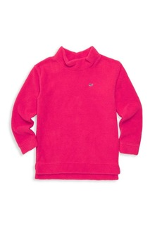 Vineyard Vines Little Girl's & Girl's Mockneck Fleece Sweater