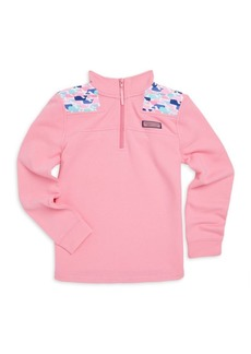 Vineyard Vines Little Girl's & Girl's Multi-Whale Cotton Shep Shirt