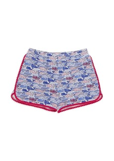 Vineyard Vines Little Girl's & Girl's Stars & Stripes Knit Shorts