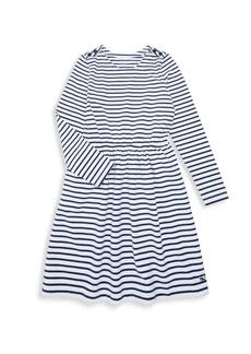 Vineyard Vines Little Girl's & Girl's Stripe Knit-Waisted A-Line Dress