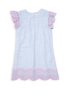 Vineyard Vines Little Girl's & Girl's Striped Eyelet Shift Dress