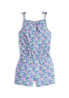 Vineyard Vines Little Girl's & Girl's Watercolor Whale Print Romper
