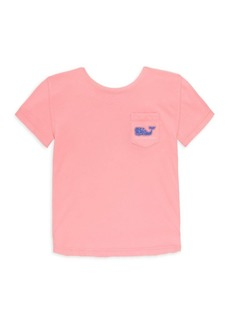 Vineyard Vines Little Girl's & Girl's Whale Cotton Tee