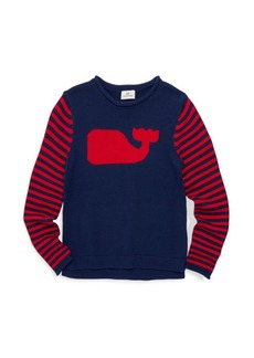 Vineyard Vines Little Girl's & Girl's Whale Instarsia Sweater