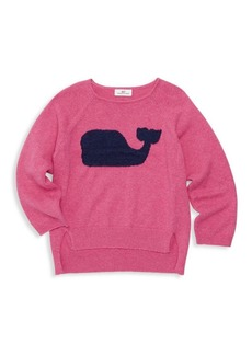 Vineyard Vines Little Girl's & Girl's Whale Intarsia Cotton Sweater