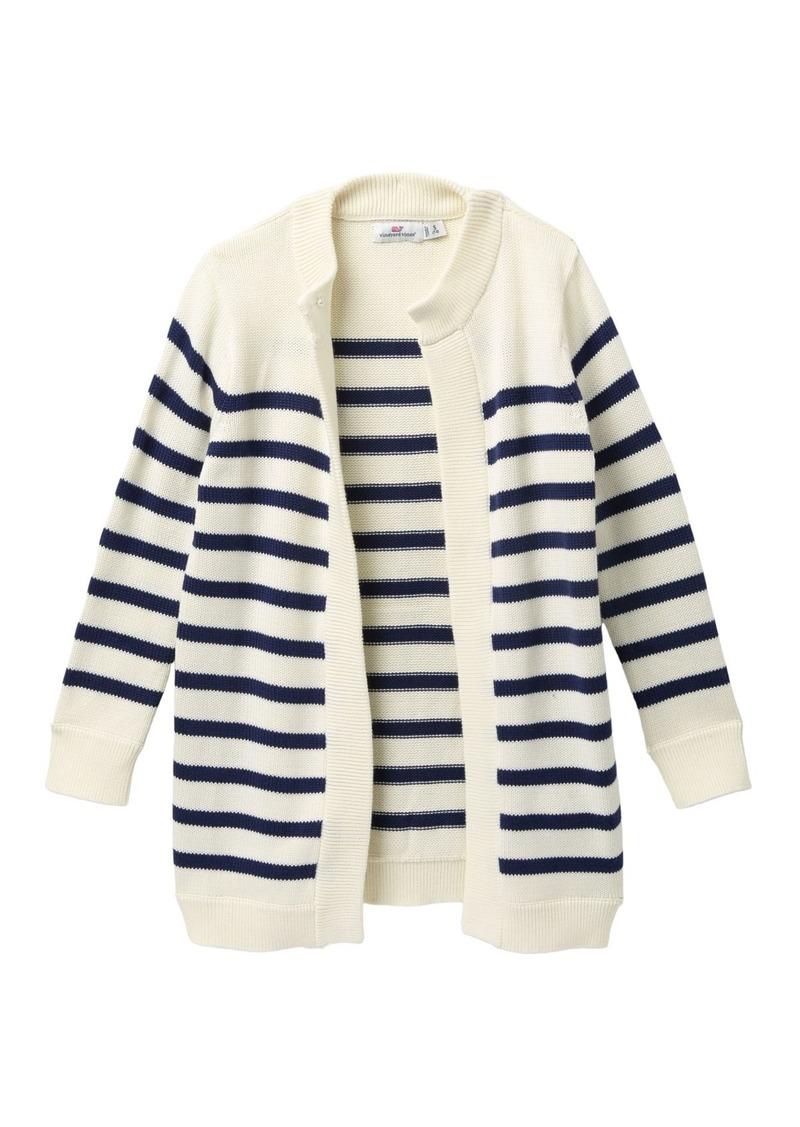 Vineyard Vines Long Open Striped Cardigan (Little Girls & Big Girls)