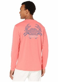 Vineyard Vines Long Sleeve Crab Stamp Pocket Tee