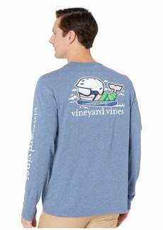 Vineyard Vines Long Sleeve Heathered Send It Whale Pocket Tee