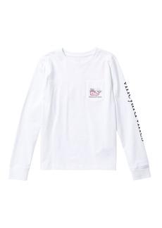 Vineyard Vines Long Sleeve New Year 2019 Whale T-Shirt (Big Girls)