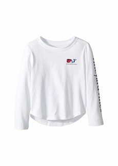 Vineyard Vines Long Sleeve Puzzle Whale Tee (Toddler/Little Kids/Big Kids)