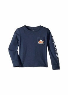 Vineyard Vines Long Sleeve Slub Thanksgiving Turkey Tee (Toddler/Little Kids/Big Kids)
