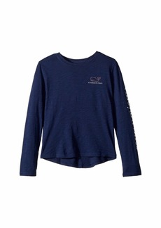 Vineyard Vines Long Sleeve Slub Whale T-Shirt (Toddler/Little Kids/Big Kids)