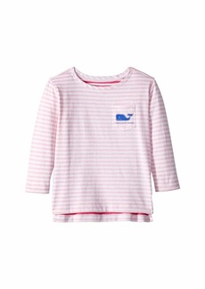 Vineyard Vines Long Sleeve Stripe Whale Pocket T-Shirt (Toddler/Little Kids/Big Kids)