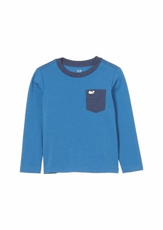 Vineyard Vines Long Sleeve Super Soft Pocket T-Shirt (Toddler/Little Kids/Big Kids)