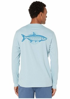 Vineyard Vines Long Sleeve Tarpon Fly Pocket Tee