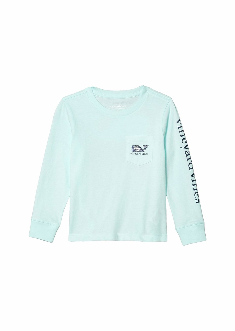 Vineyard Vines Long Sleeve Tarpon Magic Whale Pocket T-Shirt (Toddler/Little Kids/Big Kids)