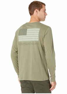 Vineyard Vines Long Sleeve Tonal Flag Pocket Tee