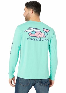 Vineyard Vines Long Sleeve Vacation Whale Pocket Tee