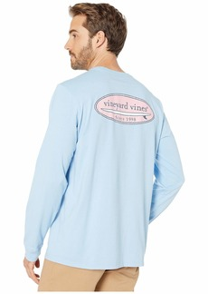 Vineyard Vines Long Sleeve VV Surf Logo Pocket Tee