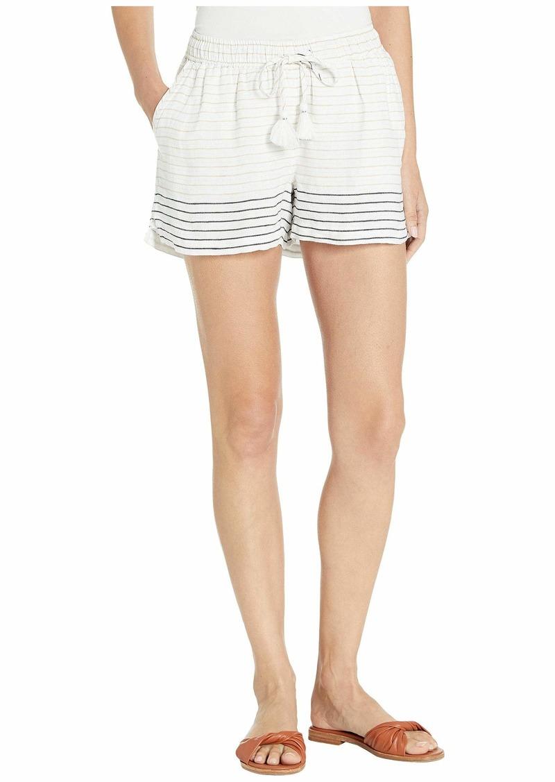 Vineyard Vines Lurex Stripe Linen Pull-On Shorts