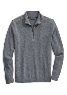 Men's Vineyard Vines X Jim Nantz Grant Merino Wool Half Zip Pullover